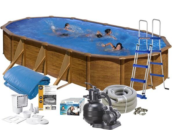 Pool Basic 6.10 x 3.75 x 1.20 m Wood