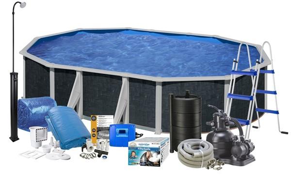 Pool Solar 5.00 x 3.00 x 1.2 m. Black Graphite