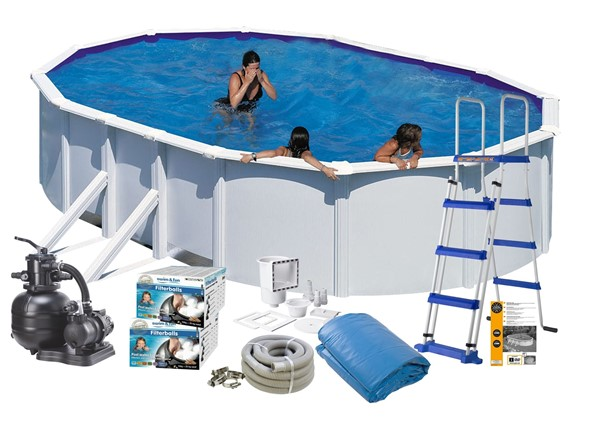 Pool Basic 6.10 x 3.75 x 1.32 White