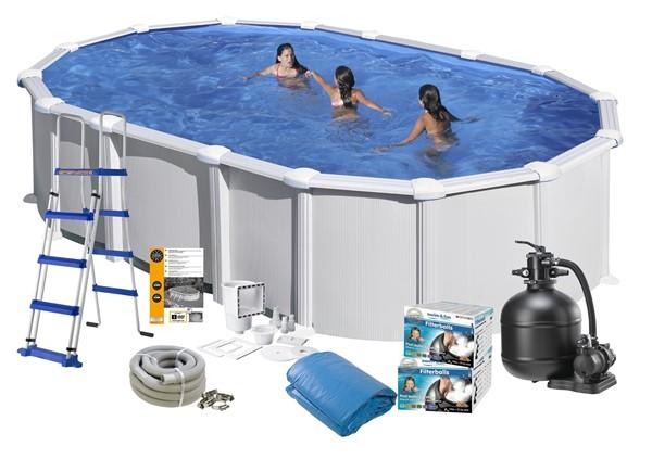 Pool Basic 7.30 x 3.75 x 1.32 White