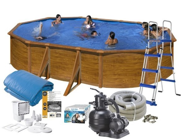 Bild på Pool Basic 120 500x300 Brun